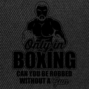 only in boxing can you be robbed Camisetas - Gorra Snapback
