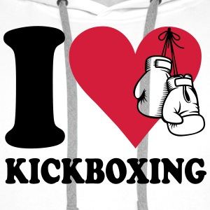 I love kickboxing T-Shirts - Men's Premium Hoodie