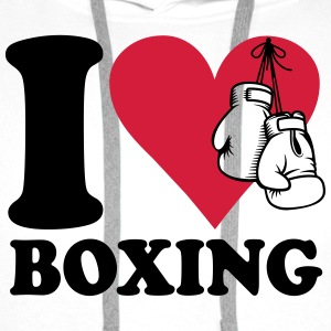 I love boxing T-Shirts - Men's Premium Hoodie