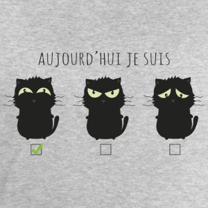 Aujourd'hui chat heureux Tee shirts - Sweat-shirt Homme Stanley & Stella