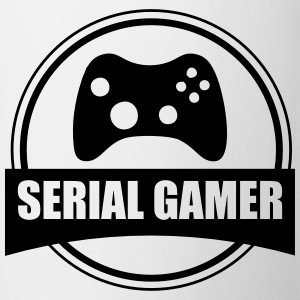 Serial gamer geek videospel gaming - Mugg