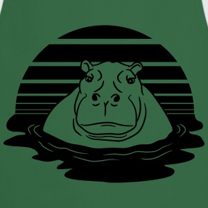 sun evening moon sunset hippopotamus thick water s T-Shirts - Cooking Apron