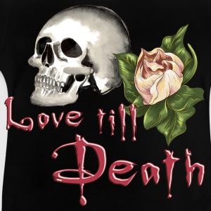 flower_skull_love_till_death_082016_02 T-Shirts - Baby T-Shirt