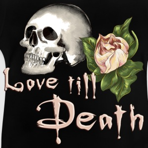 flower_skull_love_till_death_082016_01 T-Shirts - Baby T-Shirt