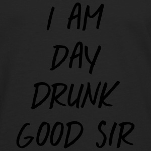 I am day drunk good sir T-shirts - Herre premium T-shirt med lange ærmer