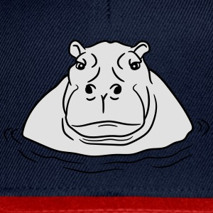 hippopotamus thick water swim thick large lake tüm T-Shirts - Snapback Cap
