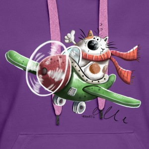 Cat on air Tops - Women's Premium Hoodie