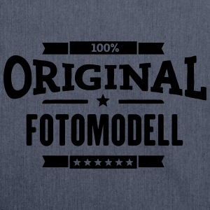 100% Fotomodell T-Shirts - Schultertasche aus Recycling-Material