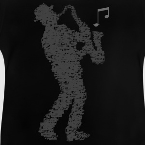 saxophone_player_notes_092016grau T-Shirts - Baby T-Shirt