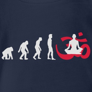 Evolution Yoga Buddhismus Meditation Pullover - Baby Bio-Kurzarm-Body