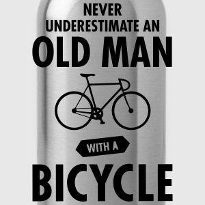 Never Underestimate An Old Man With A Bicycle T-skjorter - Drikkeflaske
