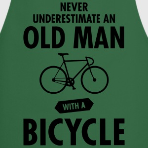 Never Underestimate An Old Man With A Bicycle T-shirts - Keukenschort