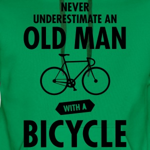 Never Underestimate An Old Man With A Bicycle T-Shirts - Men's Premium Hoodie