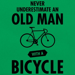 Never Underestimate An Old Man With A Bicycle T-shirts - Retro-tas