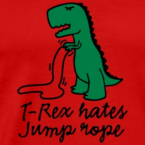 T-Rex hates jump rope Long Sleeve Shirts - Men's Premium T-Shirt