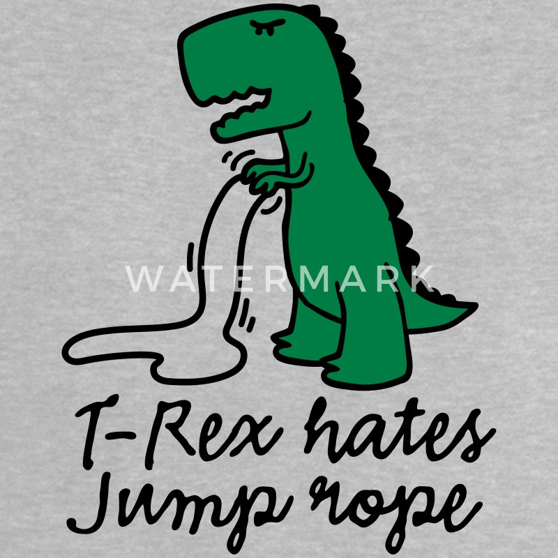 T-Rex hates jump rope Baby Shirts  - Baby T-Shirt
