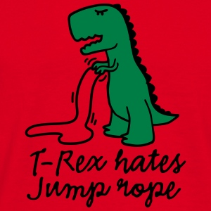 T-Rex hates jump rope Sweat-shirts - T-shirt Homme