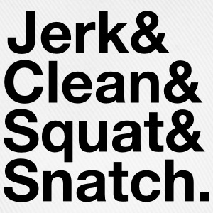 Jerk, Clean, Squat, Snatch T-shirts - Basebollkeps