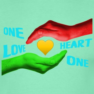 One love - one heart - Männer T-Shirt