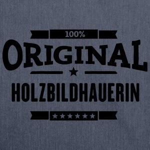 100% Holzbildhauerin T-Shirts - Schultertasche aus Recycling-Material