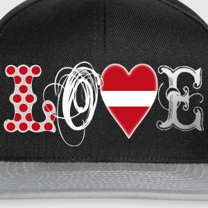 Love Latvia white T-Shirts - Snapback Cap