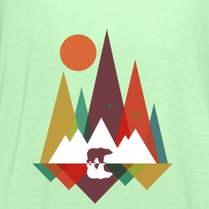 Kraftig mint Bear in the mountains T-shirts - Dame tanktop fra Bella
