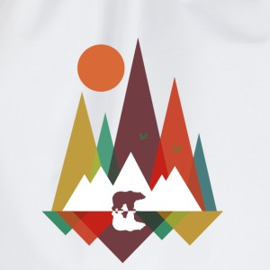 Lys mintgrøn Bear in the mountains Sweatshirts - Sportstaske