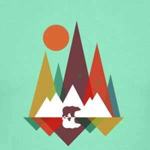 Licht mintgroen Bear in the mountains Sweaters - Mannen T-shirt