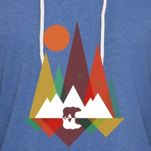 Sky Bear in the mountains Baby-bodyer - Let sweatshirt med hætte, unisex