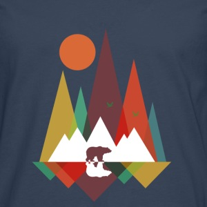 Sky Bear in the mountains Baby-bodyer - Herre premium T-shirt med lange ærmer