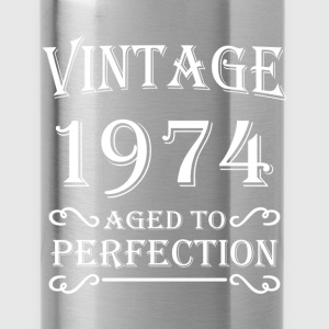 Vintage 1974 - Aged to perfection T-Shirts - Water Bottle