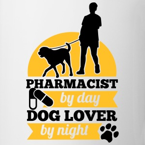 Pharmacist by day. Dog lover by night T-Shirts - Tasse