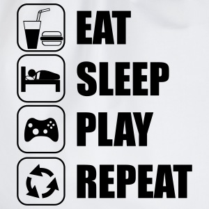 eat,sleep,play repeat - gamer - Sportstaske