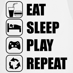 eat,sleep,play repeat - gamer - Forklæde