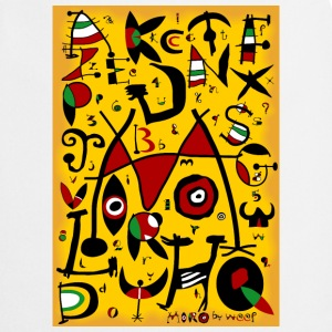 Miro alphabet by weef - Cooking Apron