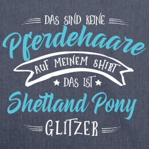 Glitzer Shetland Pony Pullover & Hoodies - Schultertasche aus Recycling-Material