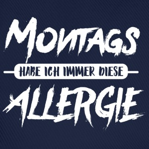Montags Allergie T-Shirts - Baseballkappe