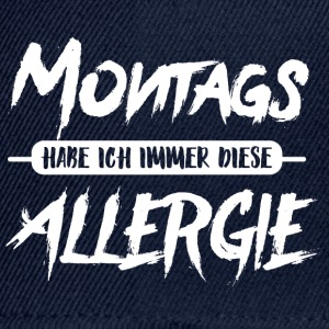 Montags Allergie T-Shirts - Snapback Cap