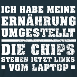 Links vom Laptop Pullover & Hoodies - Männer T-Shirt