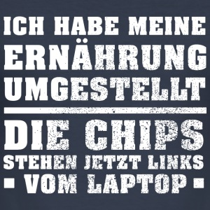 Links vom Laptop Pullover & Hoodies - Männer Slim Fit T-Shirt