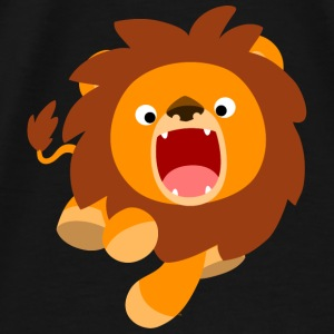 Cute Frisky Cartoon Lion by Cheerful Madness!! Bags & Backpacks - Men's Premium T-Shirt