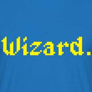 8 Bit Wizard Gamer Aprons - Men's T-Shirt