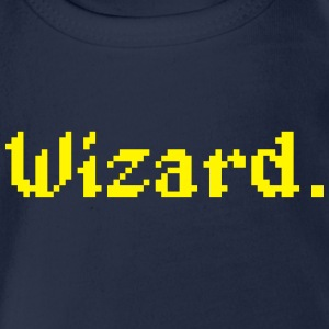 8 Bit Wizard Gamer Shirts - Organic Short-sleeved Baby Bodysuit