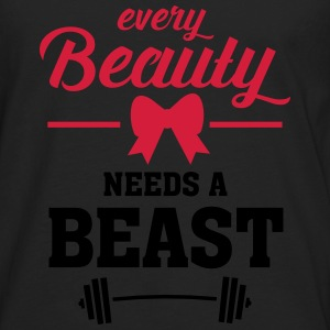 Beauty - Beast (Part 1) Camisetas - Camiseta de manga larga premium hombre
