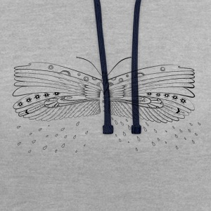 papillon Tee shirts - Sweat-shirt contraste