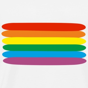 rainbow  Topper - Premium T-skjorte for menn