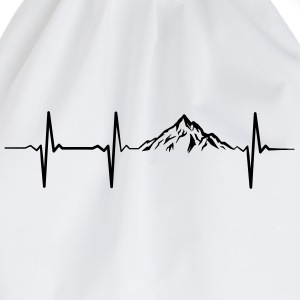 Heartbeat Mountains T-Shirts - Drawstring Bag