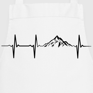 Heartbeat Mountains T-Shirts - Cooking Apron