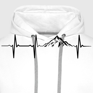Heartbeat Mountains T-Shirts - Men's Premium Hoodie