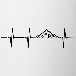 Heartbeat Mountains T-Shirts - Mug